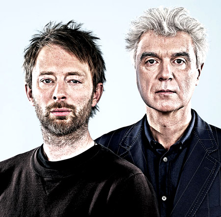 Thom Yorke and David Byrne